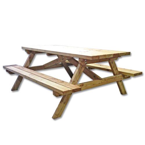 table pique nique en bois 4 places art concept bois. Black Bedroom Furniture Sets. Home Design Ideas