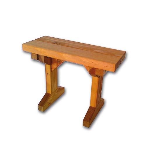 bancs en bois bout de table pour table pique nique ou foresti re bois. Black Bedroom Furniture Sets. Home Design Ideas